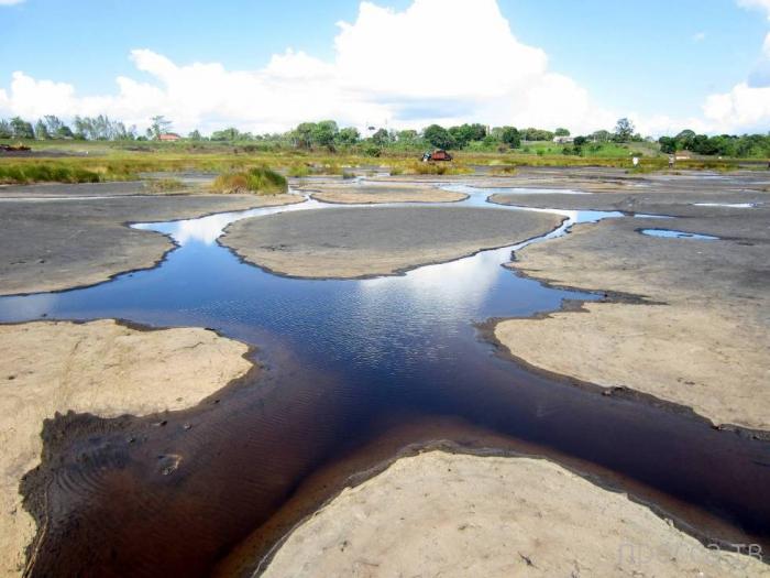Пич-Лэйк - озеро из жидкого асфальта, Тринидад (8 фото)