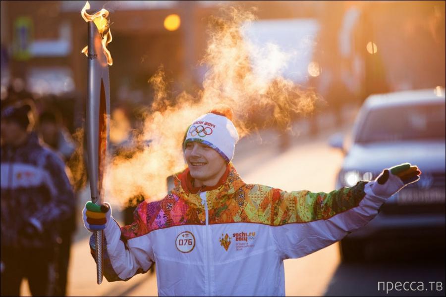 Как сделали олимпийский огонь