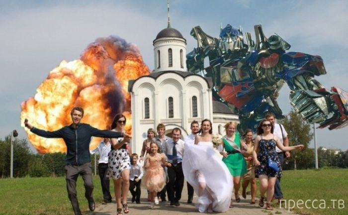 Прикольные свадебные фотографии (39 фото)