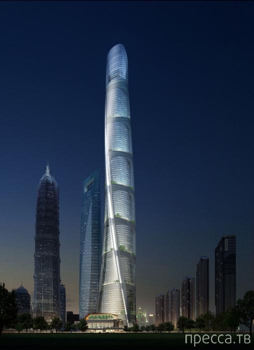 Наши парни залезли на вершину Shanghai Tower (5 фото + видео)