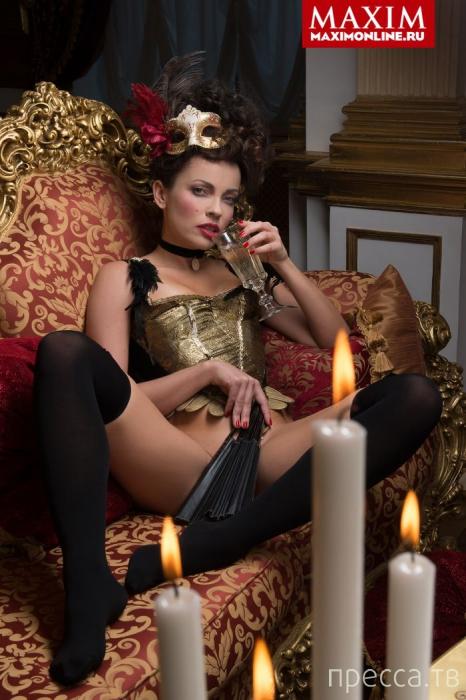 Актриса Ольга Зайцева в журнале Maxim (5 фото + видео)