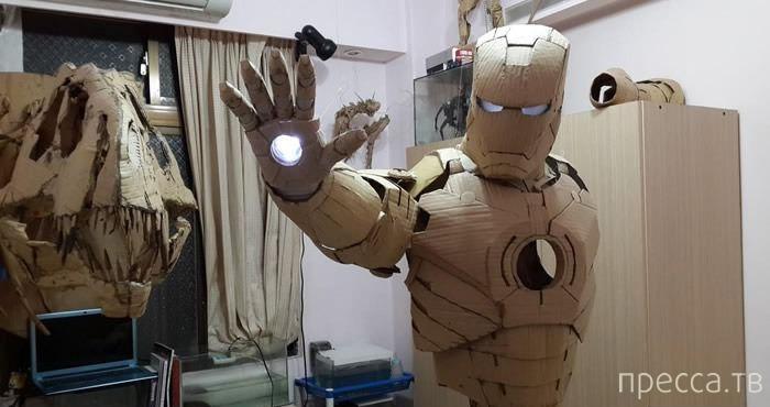 Железный человек своими руками из картона
