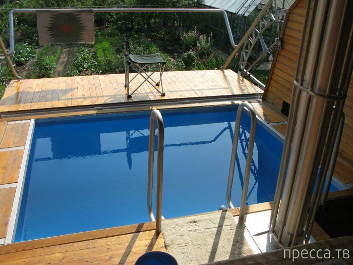 Высокотехнологичная сауна с бассейном  своими руками (14 фото)