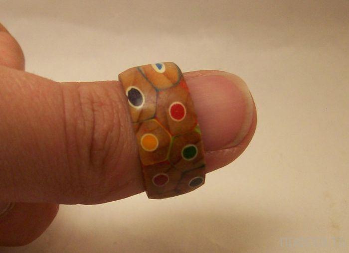 Необычное кольцо из карандашей своими руками (14 фото)