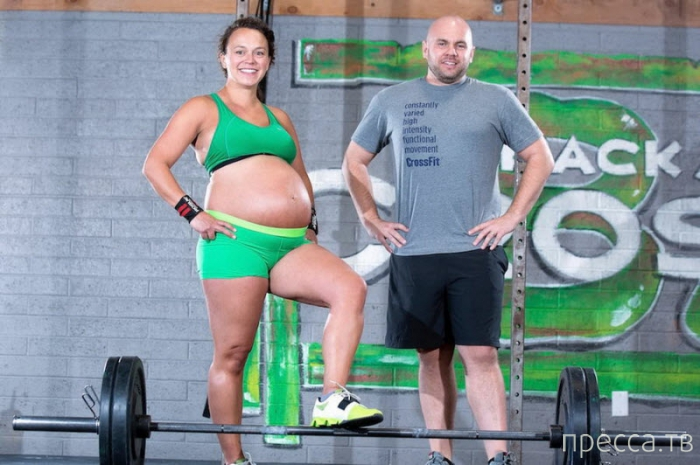 Американка Меган Лезерман установила рекорд на последнем месяце беременности (10 фото)