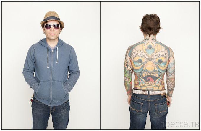 Люди и их скрытые татуировки — необычный фотопроект от Спенсера Коваца (16 фото)