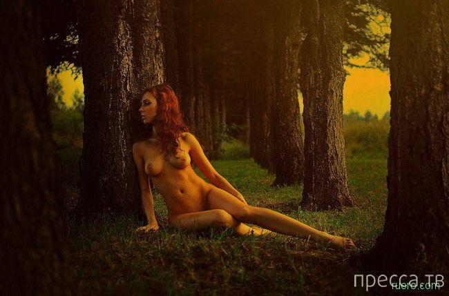 в лесу ню фото