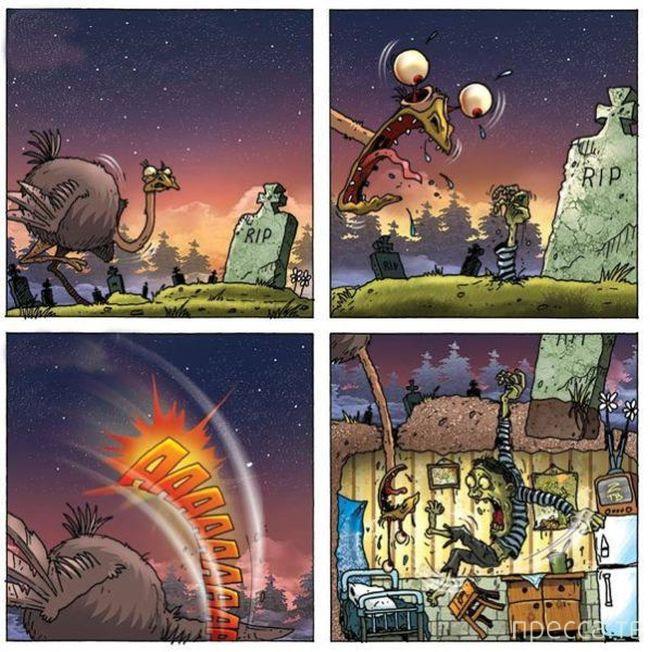 Веселые комиксы и карикатуры, часть 134 (17 фото)