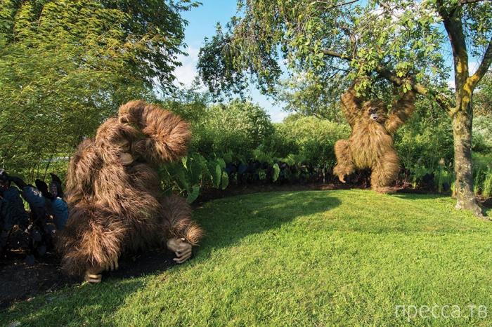 Скульптуры из растений в Ботаническом саду Атланты (12 фото)