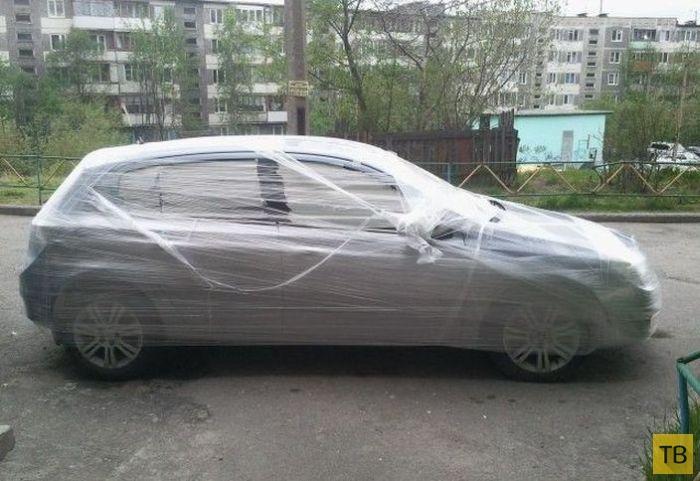 """Упаковал"" автомобиль перед отпуском (4 фото)"