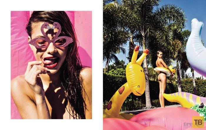 (18+) Украинская модель Яра Хмидан в эротической фотосессии для журнала Treats (10 фото)