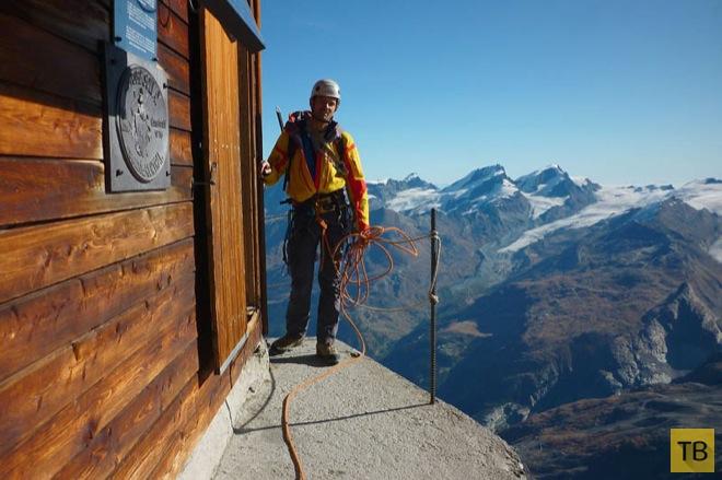 Самая высокогорная хижина в швейцарских Альпах (9 фото)