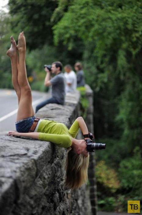 Экстрим и сумасшествие людей в фотографиях (27 фото)