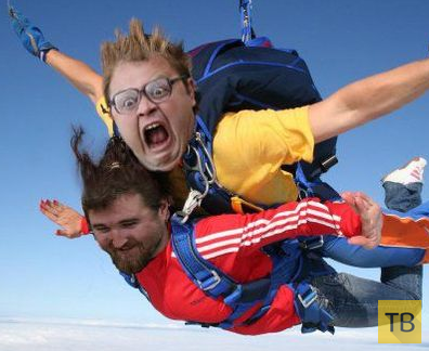 Мысли перворазника после прыжка с парашютом...