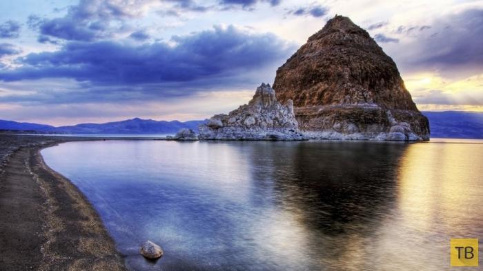 Озеро Пирамид в Неваде (7 фото)