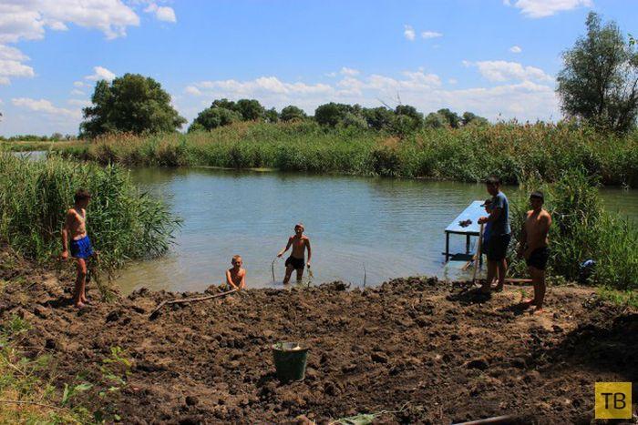 Как сделать пляж на деревенской речке (46 фото)
