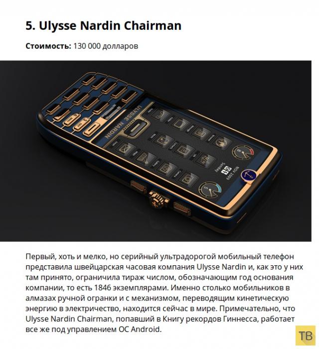 Топ 9: Самые дорогие мобильные телефоны в мире (9 фото)