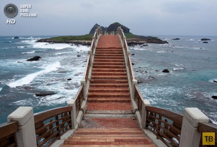 Тайваньская достопримечательность - Терраса трех бессмертных (7 фото)