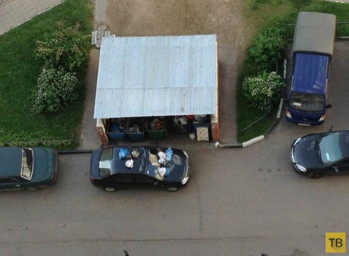 Лучшая подборка автомобильных приколов за неделю (28 фото)