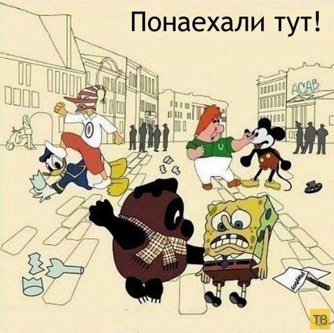 Веселые комиксы и карикатуры, часть 156 (15 фото)