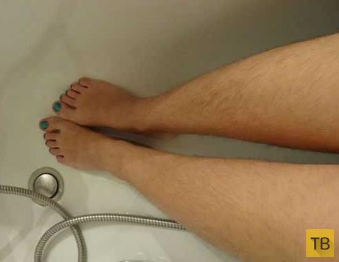Женщины развернули борьбу за волосатые ноги (7 фото)