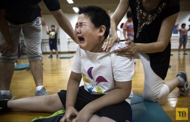Воспитательный лагерь для толстых китайских мальчиков (8 фото)