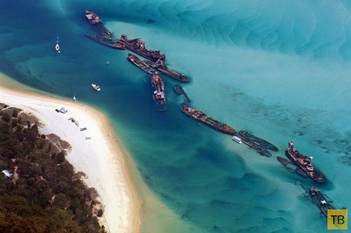 Кораблекрушения острова Мортон (8 фото)