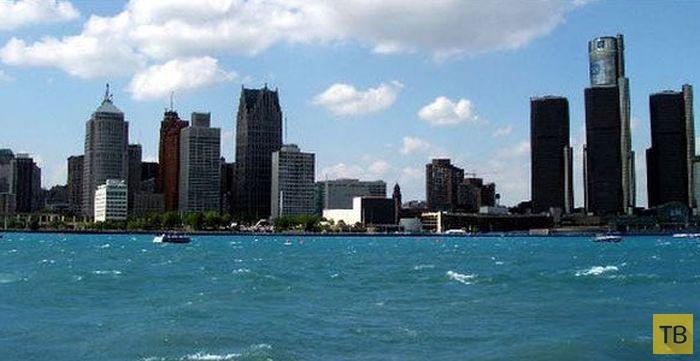 Как живется в современном американском городе - Детройт (13 фото)