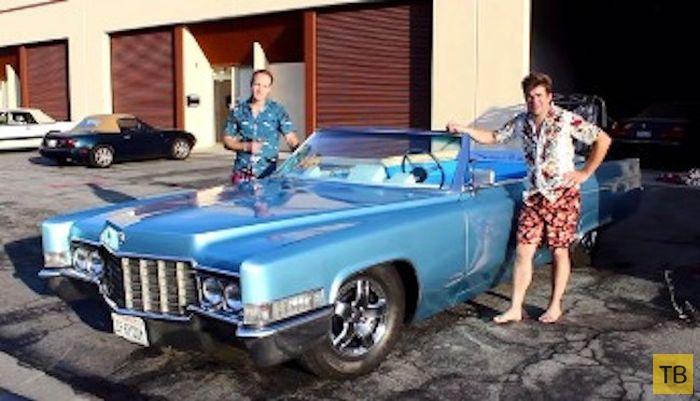 Бассейн из старого Cadillac (20 фото)