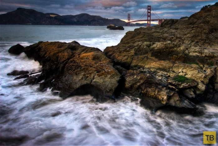Золотые Ворота - уникальный мост в Сан-Франциско (12 фото)