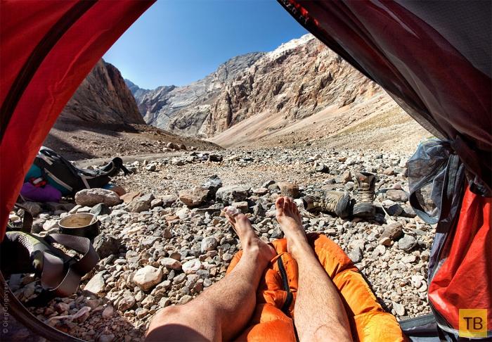 Утренние виды из палатки (10 фото)