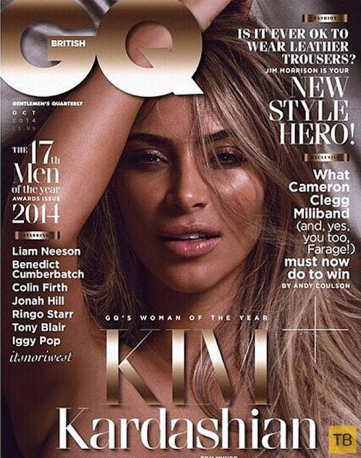 Ким Кардашьян снялась обнаженной для мужского журнала GQ (5 фото)