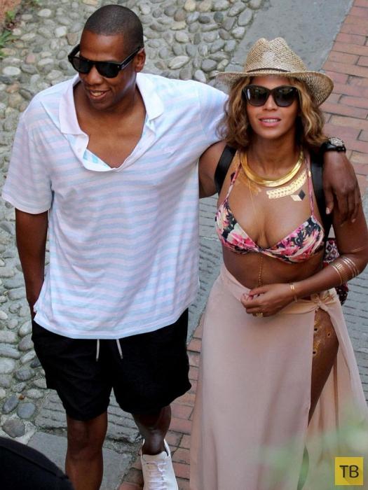 Джей-Зи и Бейонсе на отдыхе в Портофино, Италия (11 фото)