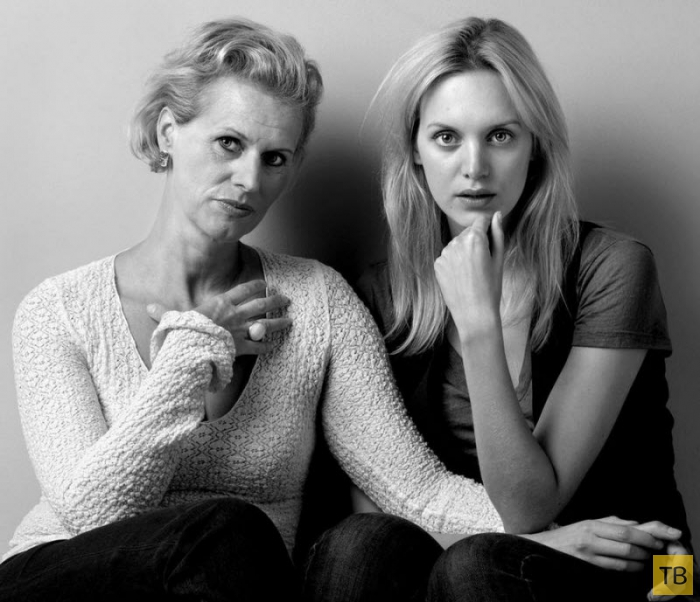 Дочки и матери в совместном фотопроекте (20 фото)