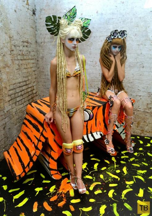 Модели Get Wild at London Fashion Week весна-лето 2015 (14 фото)