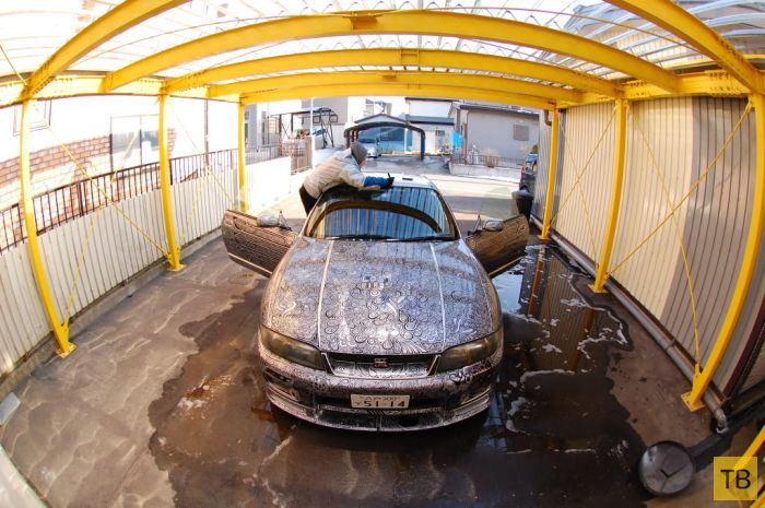 Удивительный способ покраски автомобиля (14 фото)