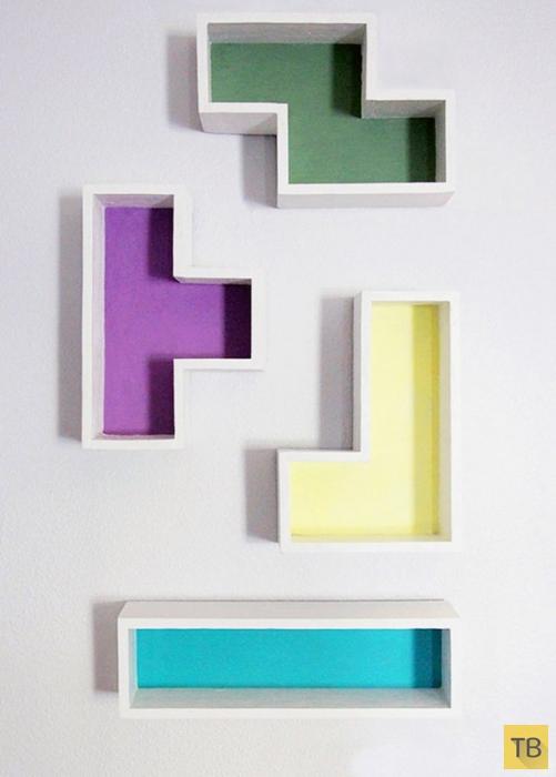Креативный дизайн полок своими руками (16 фото)