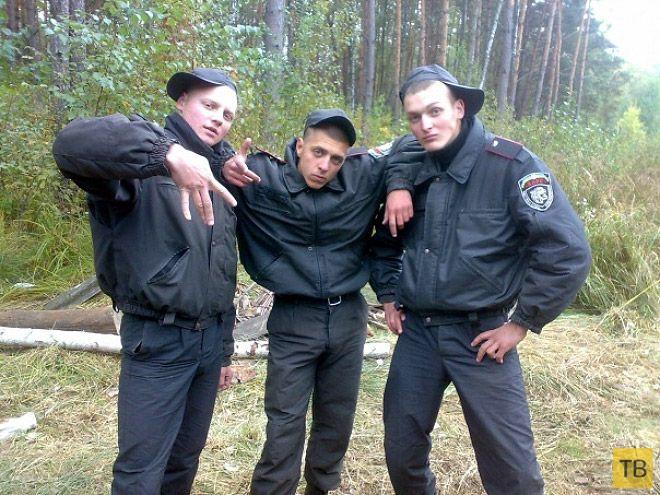 Забавные фотографии сотрудников российской милиции (18 фото)