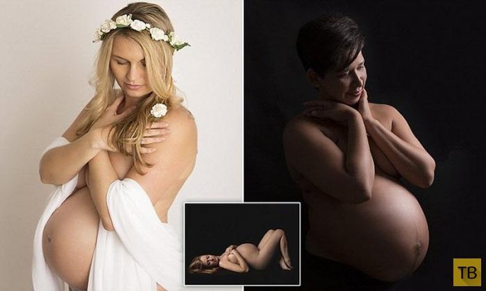 (18+) Красота будущих мам (9 фото)