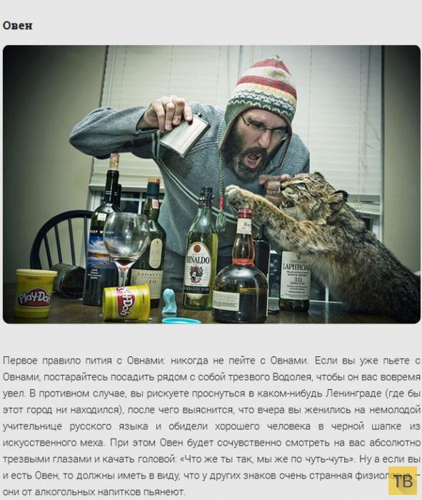 Влияние алкоголя на знаки зодиака (13 фото)