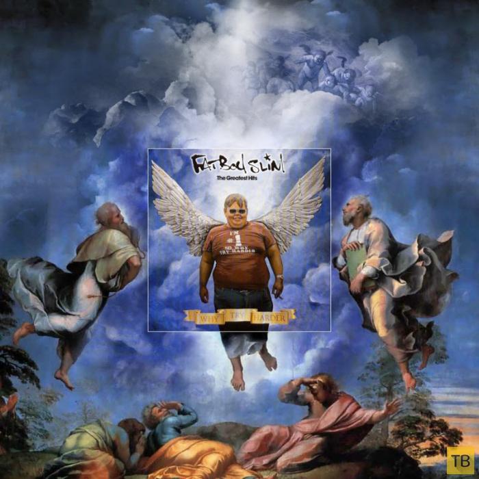 Необычный взгляд на обложки музыкальных альбомов (8 фото)