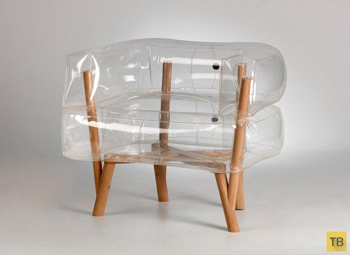 Прозрачное надувное кресло на все случаи жизни (7 фото)