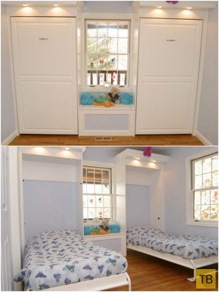 Блестящие идеи для маленькой спальни (16 фото)