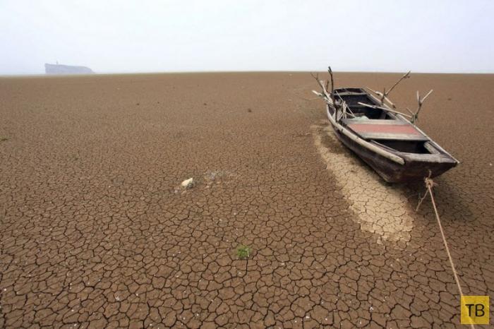 Озеро Поян: зловещее место Китая (9 фото)