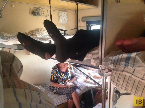Прелести и гадости путешествий в плацкартных вагонах (15 фото)