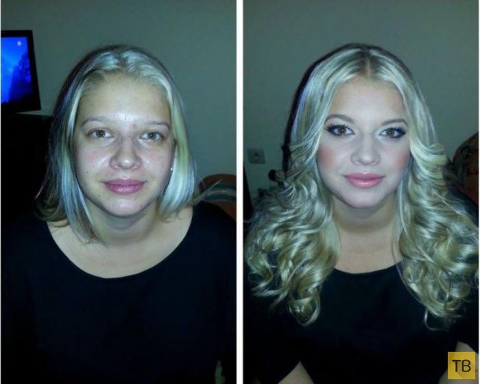 Невероятные преображения девушек до и после макияжа (21 фото)
