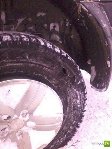 На обгоне лопнуло колесо