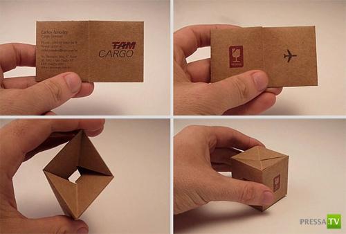 Очень креативные визитки ( 15 фото)