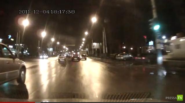 Замес из 4 автомобилей г. Москва Ленинский проспект
