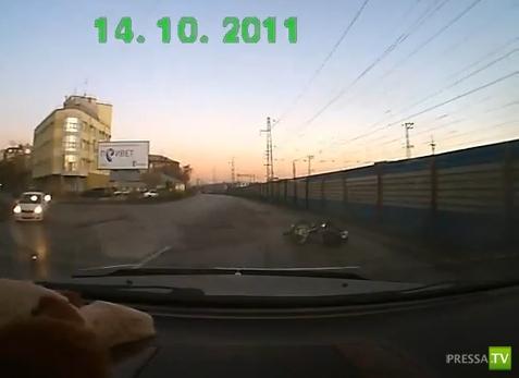 Авария с мотоциклистом г. Новосибирск